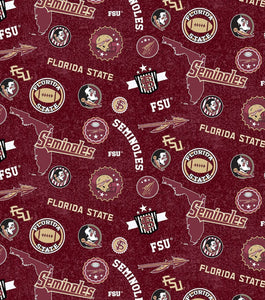 FSU Face Mask with removeable pocket filters and nose wire| Adjustable Ear Loops | USA made |Quick Ship | Machine Washable