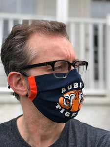 Auburn Face Mask | Adjustable Ear Loops | Made in the USA | Quick Ship | Machine Washable | Unisex | Adult and Child Sizes