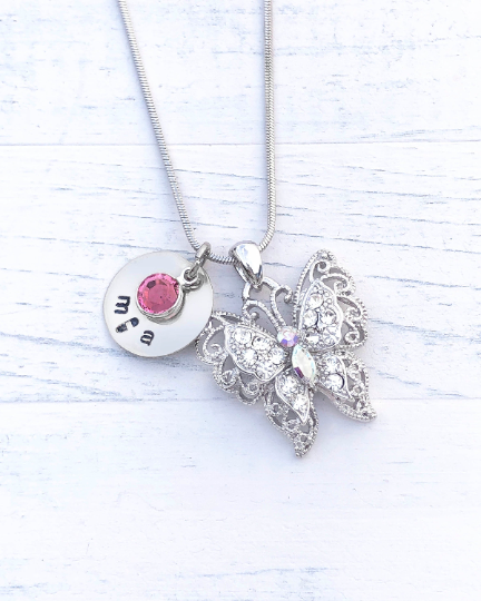 Butterfly Necklace | Butterfly Gift | Personalized Necklace | Christmas gifts for mom | Christmas gifts for her | Christmas gifts for women