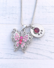 Load image into Gallery viewer, Butterfly Necklace | Butterfly Charm | Butterfly Gifts | Butterfly Jewelry | Christmas gifts for mom | Christmas gifts for her