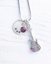 Load image into Gallery viewer, Guitar Gifts | Guitar Necklace | Guitar Jewelry for women | Personalized Necklace | Christmas gifts for mom | Christmas gifts for women