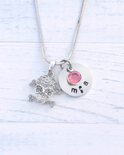 Load image into Gallery viewer, Skull Necklace | Skull Gift | Personalized Necklace | Christmas gifts for mom | Christmas gifts for her | Christmas gifts for women