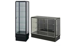 Black Aluminum Display Showcases and Counters