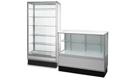 Aluminum Glass Display Case and Counters
