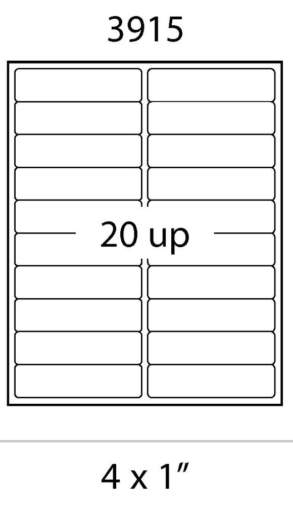 Laser Labels - 4 x 1 Address Labels
