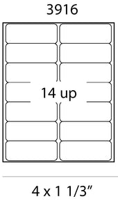 Laser Labels - 4 x 1.33 Address Labels
