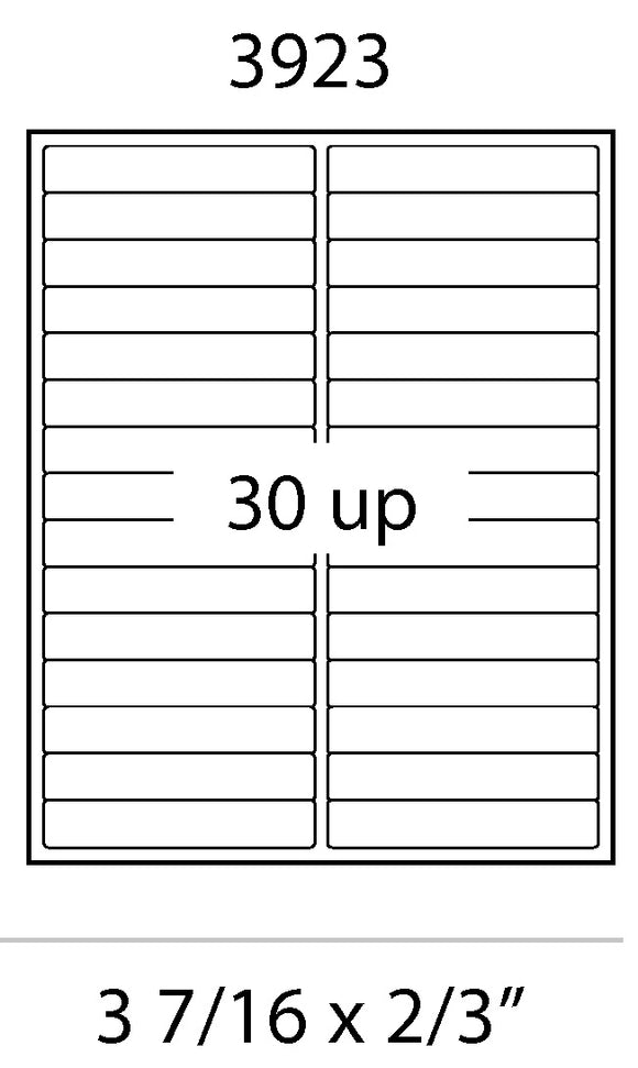 Laser Labels - 3-7/16 x 2/3 File Folder Labels