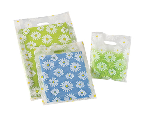 Frosted Patterned Merchandise Bags