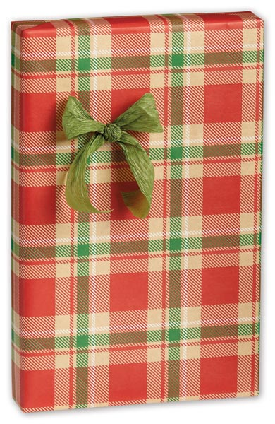 Christmas Plaid Gift Wrap, 24