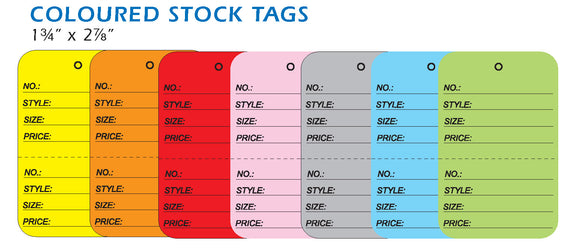 Perforated Stock Coloured Tags