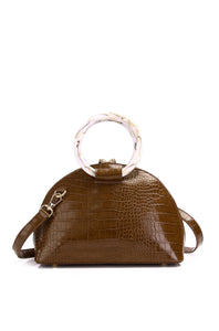 Gladys Top Handle Bag - Coffee