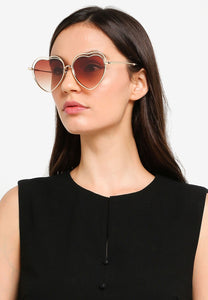 Vonnie Irregular Sunglasses (Brown)
