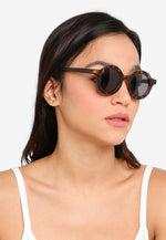 Load image into Gallery viewer, Zillah Round Sunglasses (Brown)