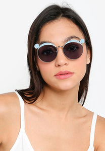 Yolonda Irregular Sunglasses (Charcoal)
