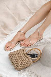 [Pre Order] Zap! Rounded Toe Sandals (Gold)