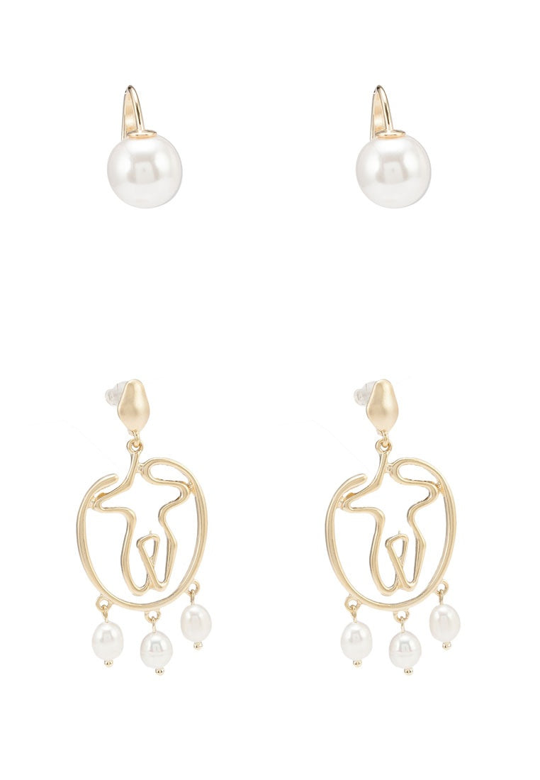 2-In-1 Lilith Earrings Set - Gold
