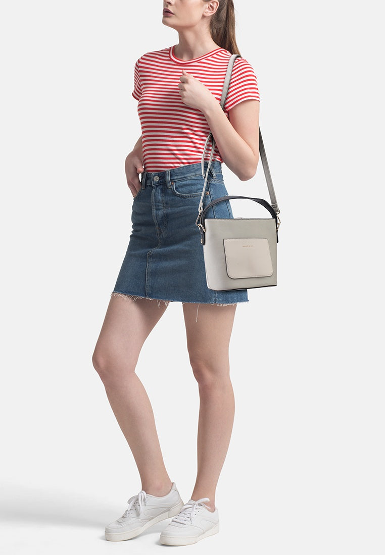 Avery Bucket Bag with Extra Sling Strap (Grey)