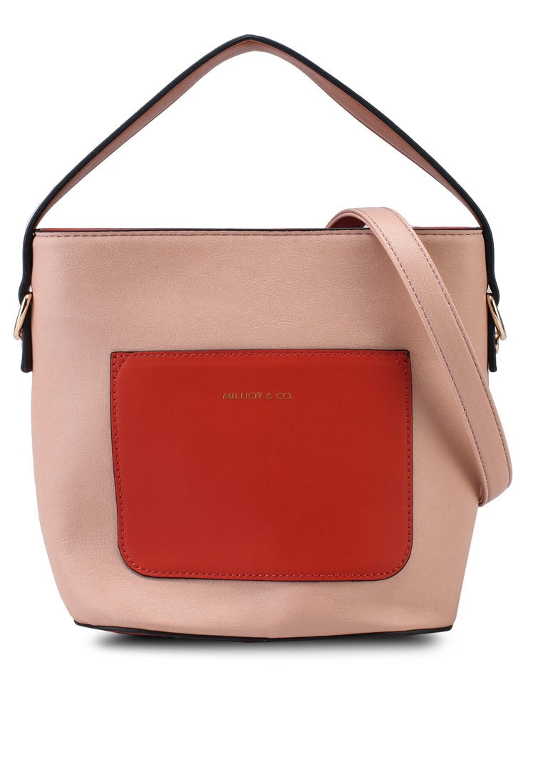 Avery Bucket Bag with Extra Sling Strap (Light Salmon)