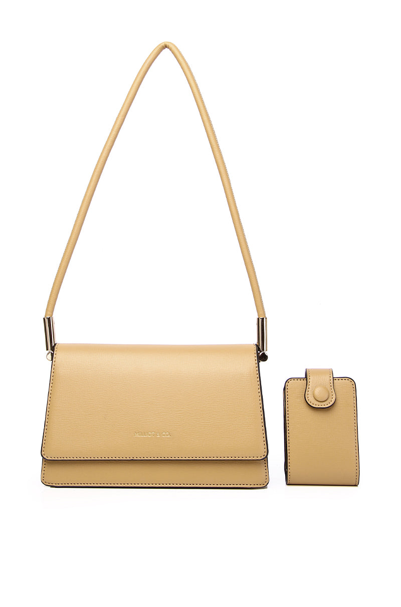 Lena Shoulder Bag With Pouch (2in1) - Beige