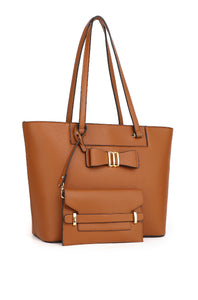 Monica Tote Bag With Pouch (2in1) - Brown