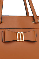 Load image into Gallery viewer, Monica Tote Bag With Pouch (2in1) - Brown