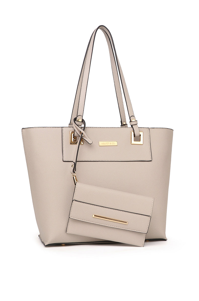 Nicole Tote Bag With Pouch (2in1) - Grey