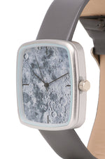 Load image into Gallery viewer, Alexandra Silver Leather Strap Watch (Grey)
