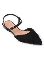 Load image into Gallery viewer, Dust Pointed Toe Flats (Black)