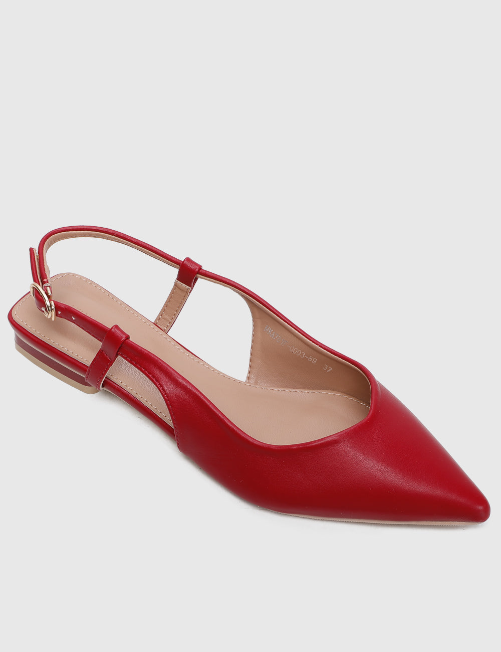 Princess Pointed Toe Flats (Red)