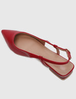Load image into Gallery viewer, Princess Pointed Toe Flats (Red)
