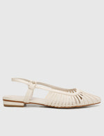 Load image into Gallery viewer, Kym Pointed Toe Flats (White)