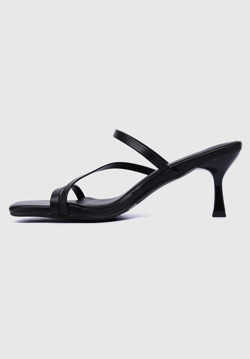 Curse Square Toe Heels (Black)