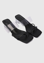 Load image into Gallery viewer, Bold Thong Heels (Black)