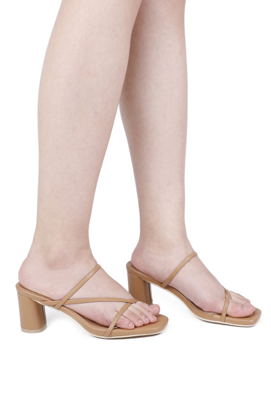 Love Square Toe Heels (Nude)