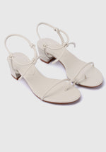 Load image into Gallery viewer, Go-Getter Toe Ring Heels (White)