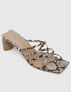 Kill 'em Criss Cross Heels (Brown)