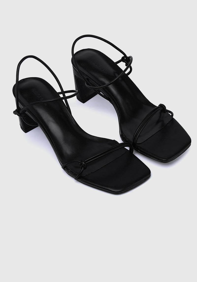 Cosmopolitan Open Toe Heels (Black)