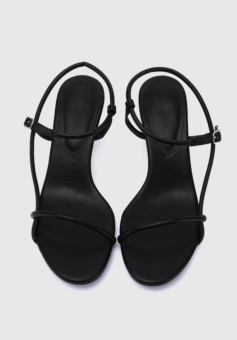 Socialite Open Toe Heels (Black)