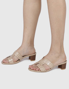 Energetic Open Toe Heels (Brown)