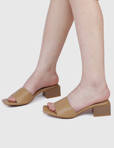 Chantale Open Toe Heels (Brown)