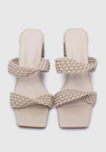 Load image into Gallery viewer, Elegant Open Toe Heels (Beige)