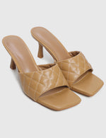 Load image into Gallery viewer, Posh Open Toe Heels (Brown)