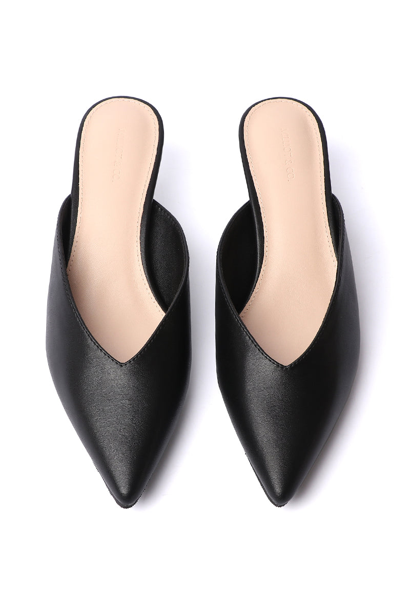 Anastasia Pointed Toe Heels (Black)