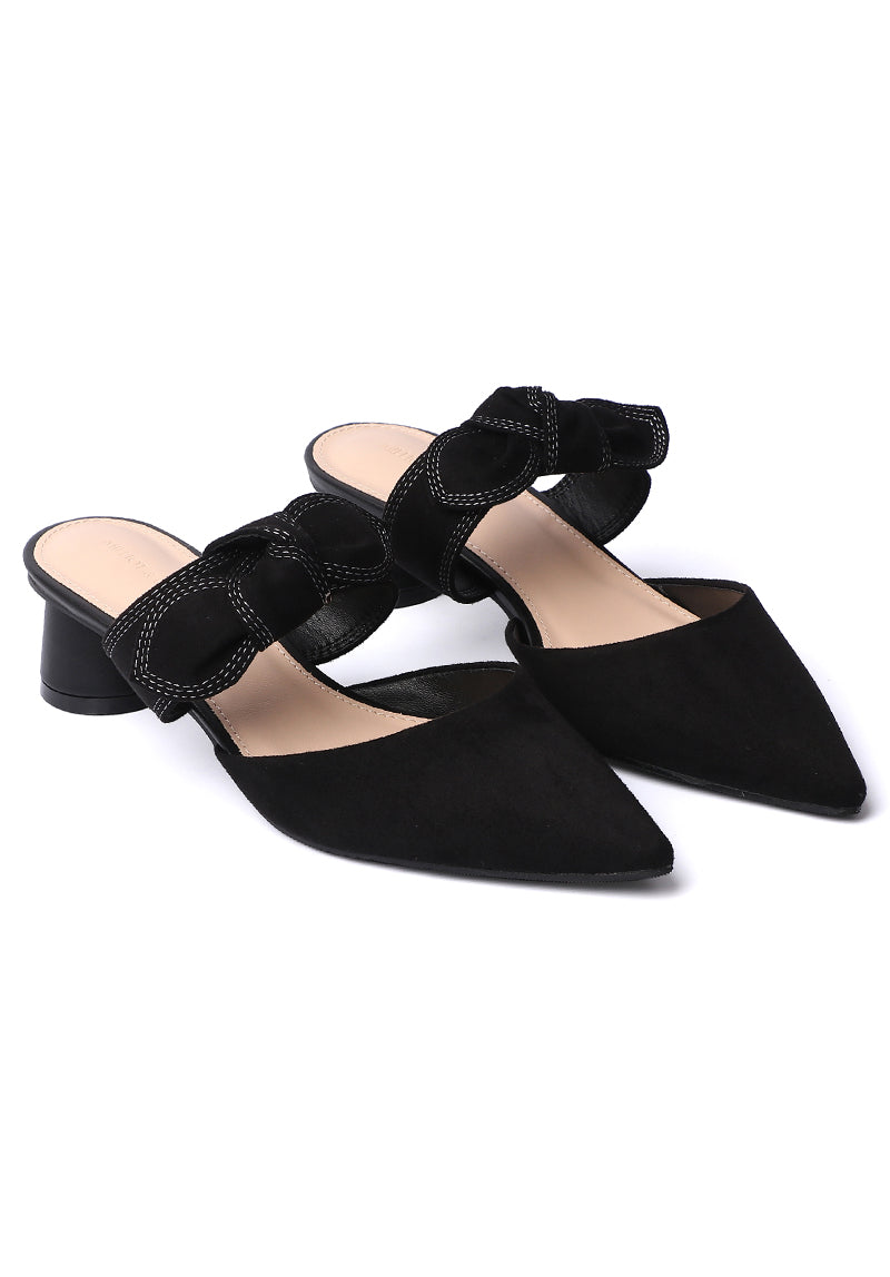 Forest Pointed Toe Heels (Black)