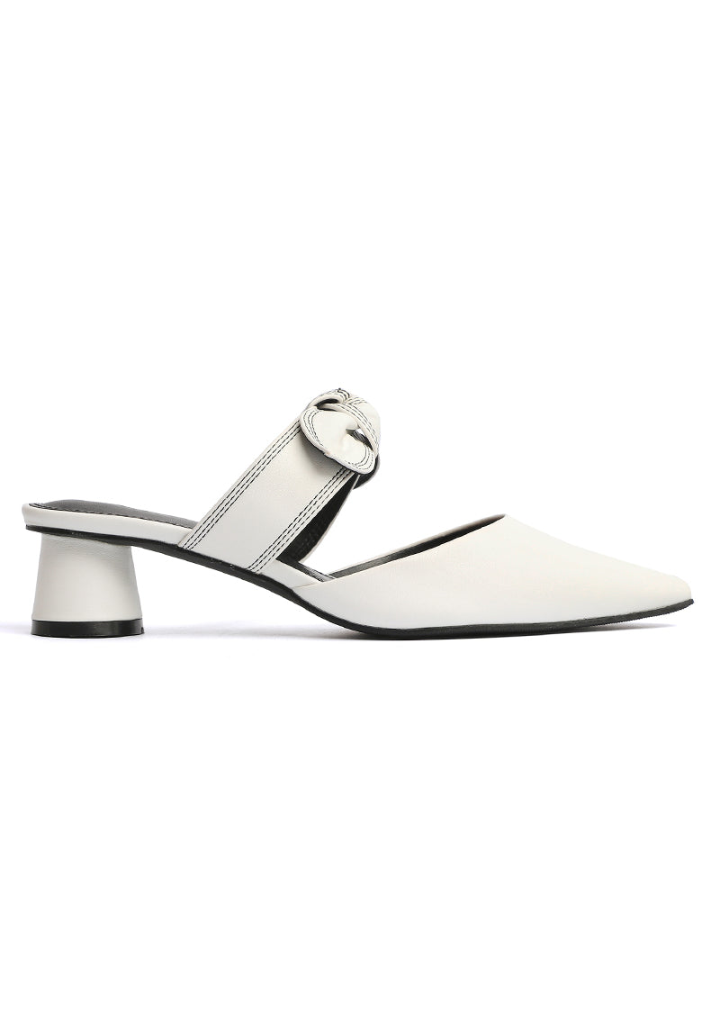 Forest Pointed Toe Heels (White)