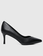 Load image into Gallery viewer, Wendy Pointed Toe Heels (Black)