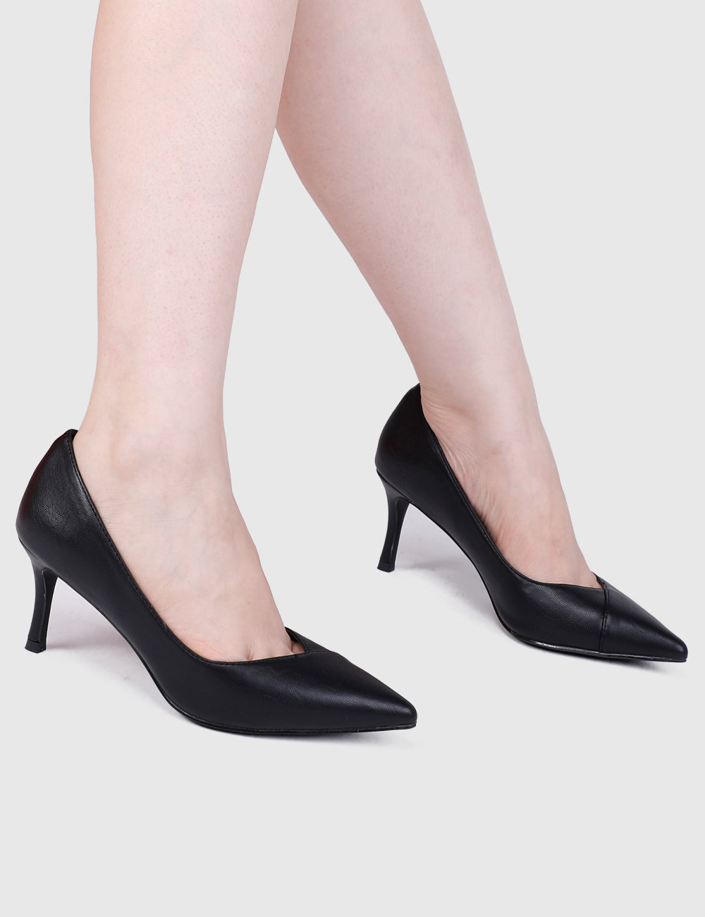 Wendy Pointed Toe Heels (Black)