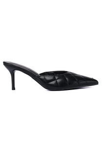 Debra Pointed Toe Heel Shoes (Black)