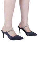 Load image into Gallery viewer, Martina Pointed Toe Heels (Navy)