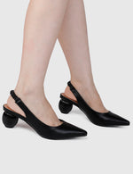 Load image into Gallery viewer, Wicked Pointed Toe Heels (Black)